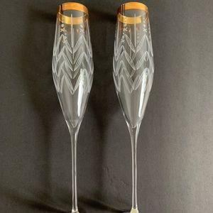 Anthropologie Champagne Glasses Set of 2